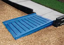 ada half ada playground ramps for plastic border systems