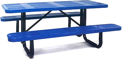 picnic table for a playground and site amenities