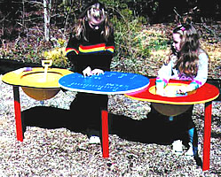 Sand and Water Table -- Double Bowl
