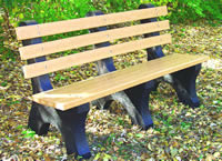 Bench, recycled plastic