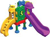 Plastic playground structure, plastic play equipment