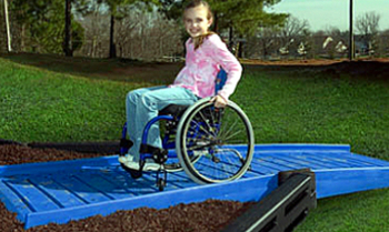 full ada playground ramps for plastic border systems