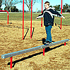 Fitness equipment - playground balance beams straight or curved