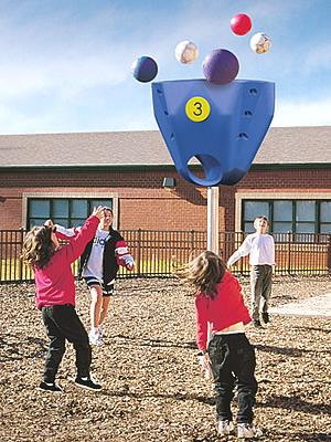Funball, fun ball, playground funball, playground funball set