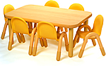 Rectangle classroom tables from BaseLine and Angeles