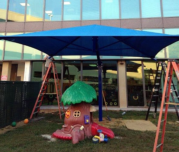 Playground cantilever shades