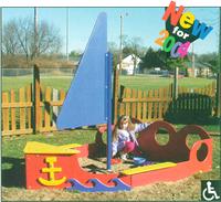 Sandboxes and sand boxes - Sailboat Sandbox - Playground Equipment