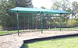 shaded swing set