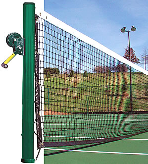 Tennis posts and nets meet official standards!