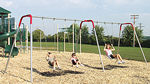 Swingset, swing set - modern - playground parts and equipment