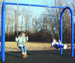 Swingset, swing set - Single Arch Swing - playground parts and equipment