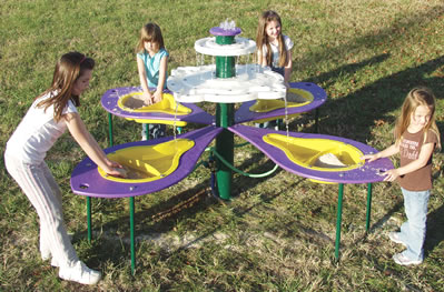 4 Bowl Fountain Sand Water Table