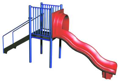 Freestanding Wave Slide Playground Equipment Usa