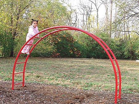playground climbers classic steel design :: half moon climbers