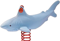 Spring animals, spring toys, spring riders - shark - playground equipment