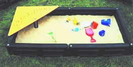 Sandbox, sand box, sandboxes, plastic landscape timber