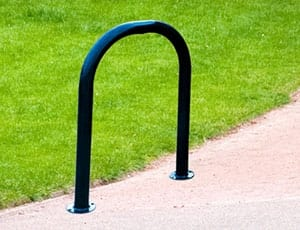 a bike rack for a playground or park
