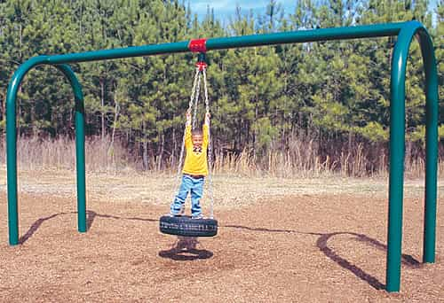 arch post tire swing sets