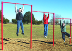 Fitness equipment - playground triple horizontal bars