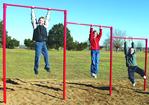 Fitness equipment - playground triple horizontal bars