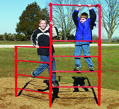 Stall Bar Fence :: Fitness Equipment :: Playground Parts and Equipment