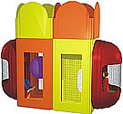 Indoor playground and play equipment, contained play structures, and Tot Blocks.