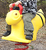 Spring animals, spring toys, spring riders - mustang - playground equipment