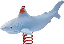 Spring animals, spring toys, spring riders - shark - playground equipment