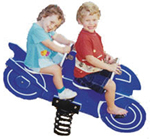Spring animals, spring toys, spring riders - motorbike - playground equipment