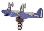 Spring animals, spring toys, spring riders - airplane - playground equipment