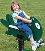 Spring animals, spring toys, spring riders - grasshopper - playground equipment