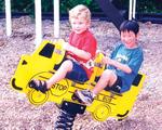 Spring animals, spring toys, spring riders - schoolbus - playground equipment