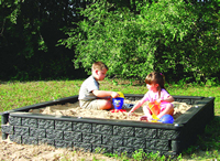 Sandboxes and sand boxes - Plastic Timber Sandbox - Playground Equipment