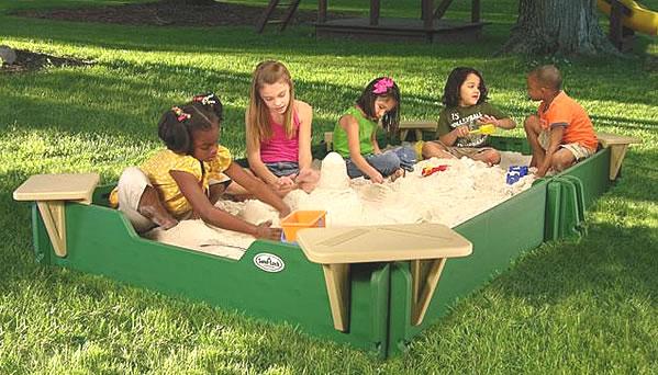 This 5' x 10' playground sandbox comes with sandbox cover.