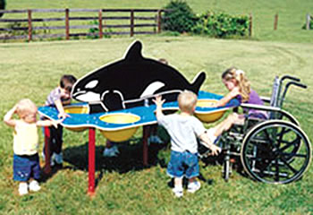 Special needs playground equipment - Whale Sand and Water Table