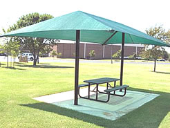 Shades, shade structures, playground shades :: 2-Post Model