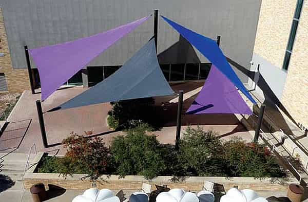sail shade for a playground