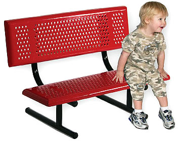 Playground benches, park benches, parkbenches -- kids' model