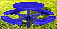 circular picnic tables