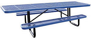 Picnic tables for playgrounds and parks :: rectangular, special needs