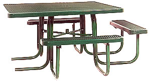 Picnic tables for playgrounds and parks :: special needs