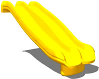 Slide :: Playground parts and equipment :: Triple rail wave slide