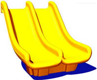 Triple rail slide with double walls is tough for your playground.