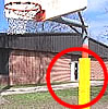 basketball equipment, post pads and padding
