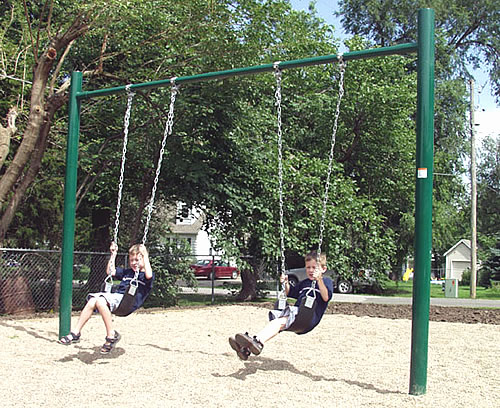 Single Post Swing - Swingsets - Playground Parts and Equipment