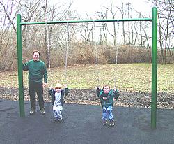Swings, swingset, swing set, playground swings, playground swingset :: Single Post Swing