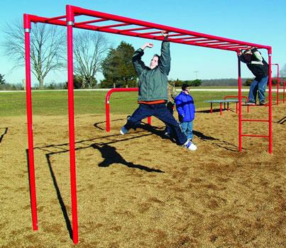 Horizontal Ladder :: Horizontal Climbing Bars :: Playground Parts and Equipment