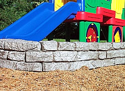plastic timbers - playground stone design