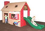 Play house, playhouse, tot house - playground equipment