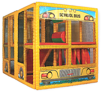 contained play school bus